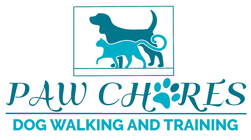 New paw chores teal white logo.png