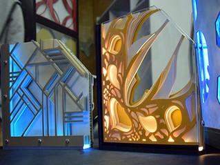 3D-панно из стекла и алюминия