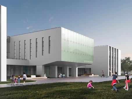 Школа со светящимся фасадом