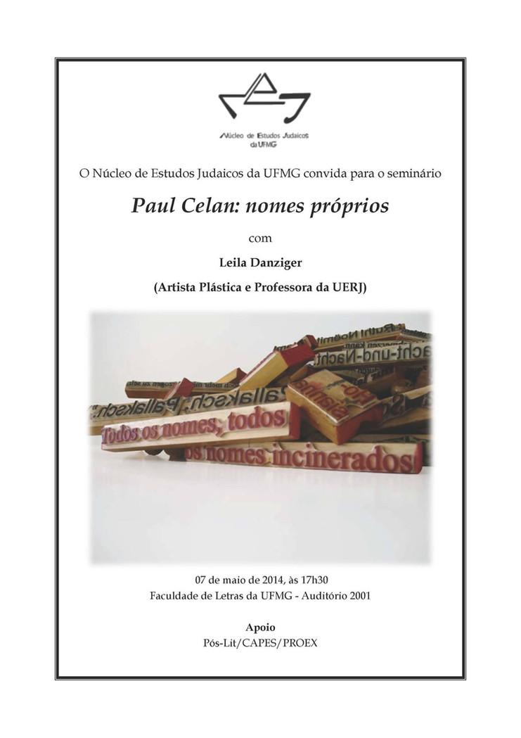 Paul Celan   Núcleo de Estudos Judaicos UFMG