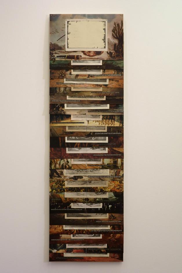 REVISTA DA SEMANA [2018] impressos e imãs sobre chapa de ferro galvanizado, 150 x 50 cm.