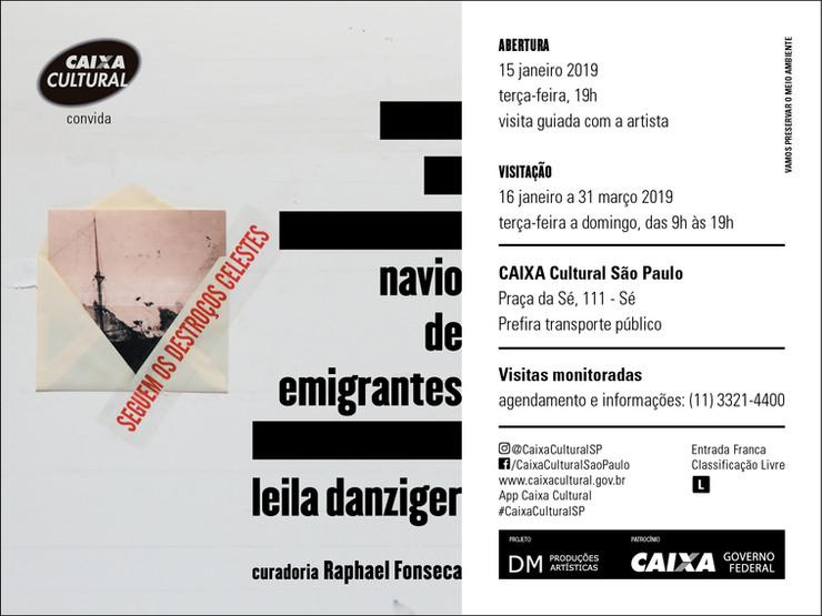 Navio de emigrantes | Caixa Cultural São Paulo | 15 jan - 31 mar