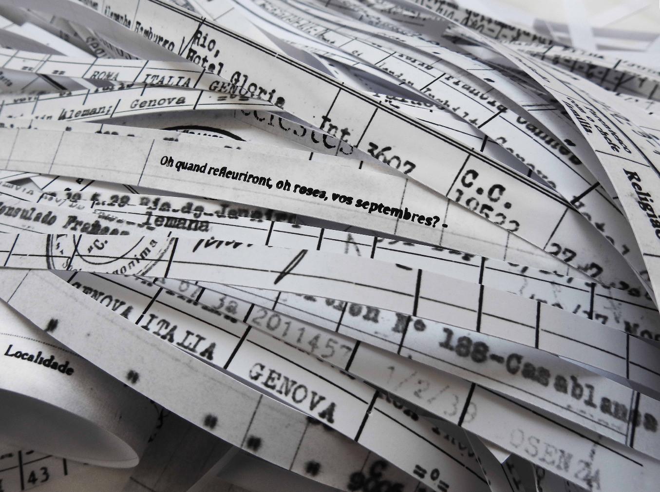 6.028 toneladas de registro [2018] impressão jato de tinta sobre papel de algodão, 110 x 95 cada