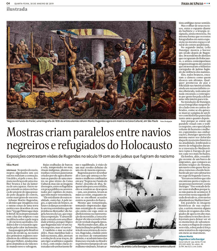 Mostras criam paralelos entre navios negreiros e refugiados do Holocausto