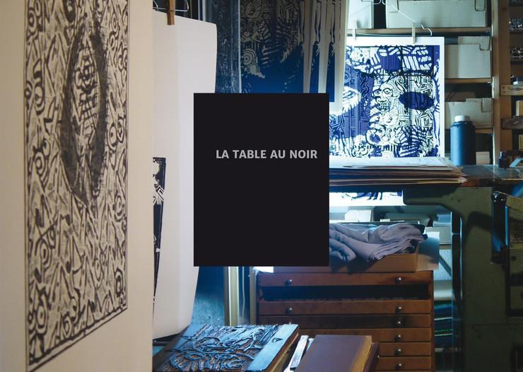 La table au noir | Yves Carreau | Une mise en atelier