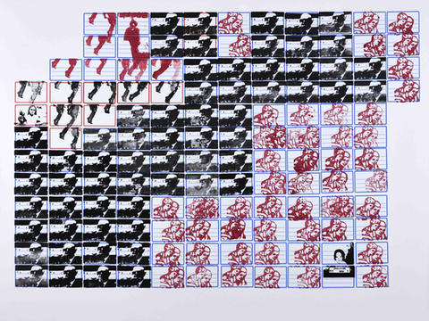 escola shakespeare #1 [série pesquisa escolar] [2020 - 2021], carimbo sobre etiqueta e cartão, 76 x 102 cm