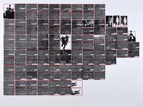 a taça do mundo do mundo é nossa [série pesquisa escolar] [2020 - 2021], carimbo sobre etiqueta e cartão, 76 x 102 cm