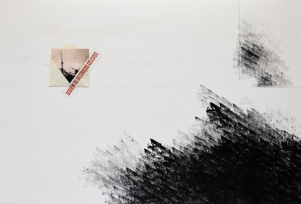 Almanzora [2018] carimbo, envelope, fotografia, fita adesiva sobre cartão| rubber stamp, envelope, photograph, scotch tape on cardboard, 120 x 80 cm