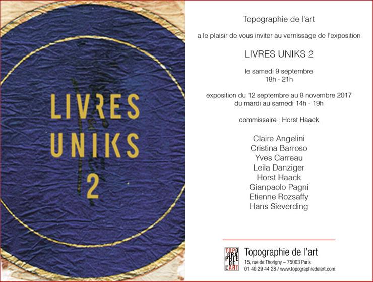 Livres uniques #2 | Topographie de l'art, Paris | 12 septembre - 8 novembre