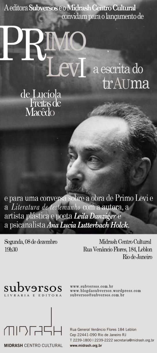 Primo Levi: a escrita do trauma, de Lucíola Macêdo