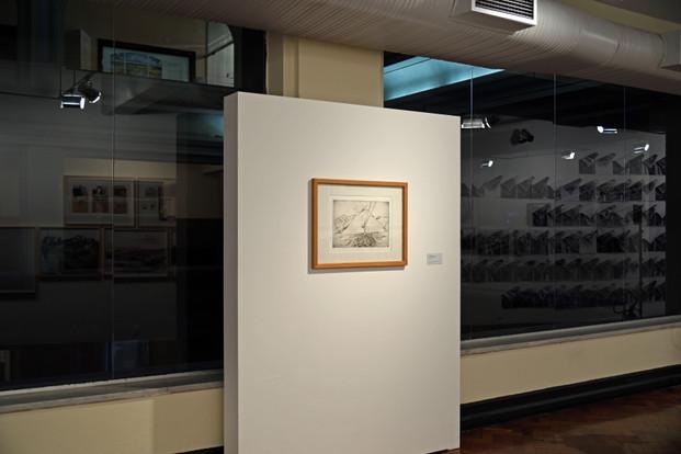 Lasar Segall, Navio e montanhas [1930]  ponta seca sobre papel, 25 x 41,5 cm . Acervo Museu Lasar Segall / IBRAM / MinC reimpressão 2008. Foto: Wilton Montenegro
