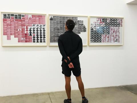 """série Pesquisa escolar. Exposição coeltiva """"Sobre os ombros de gigantes"""",  Galeria Nara Roesler, São Paulo, fev 2021"""