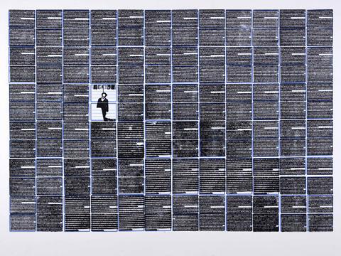 25 de outubro de 1975 [série pesquisa escolar] [2020 - 2021], carimbo sobre etiqueta e cartão, 76 x 102 cm