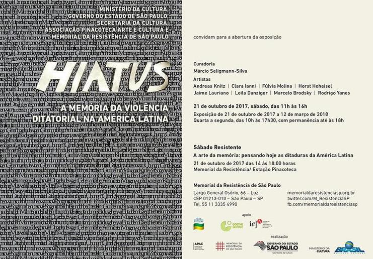 Hiatus: a memória da violência ditatorial na América Latina