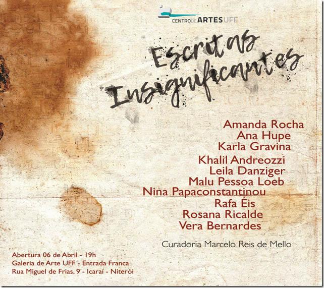Escritas insignificantes | Centro de Artes da UFF | 6 abril a 14 maio
