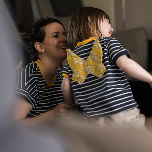 Duo t-shirt femme et enfant