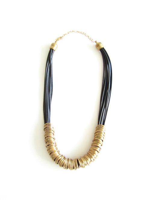 שרשרת שחור-זהב טבעות קטנות