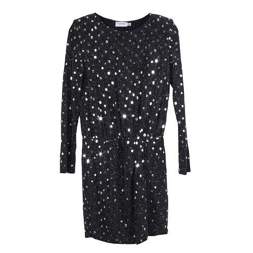 M | FLOUNCE שמלת מיני שחורה