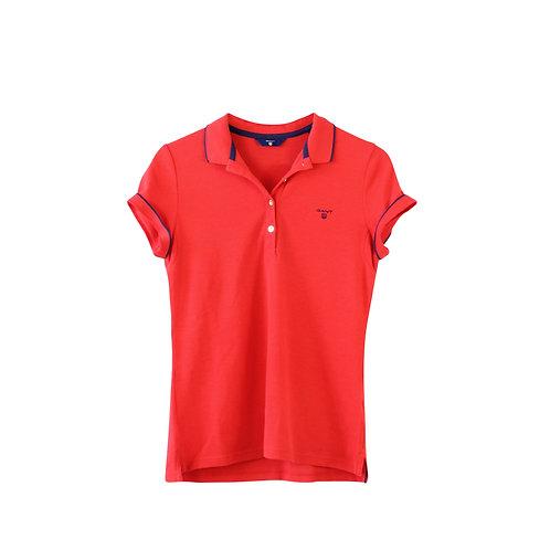 S   GANT חולצת פולו אדומה