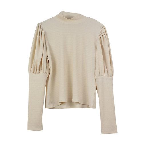 L | MONKI  חולצת שמנת צווארון