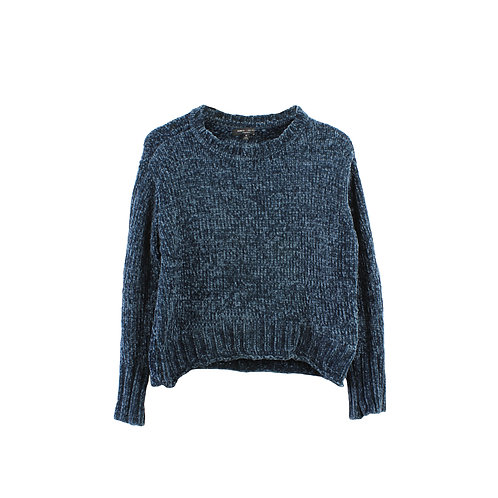 M  ROMEO + JULIET  סוודר קרופ כחול