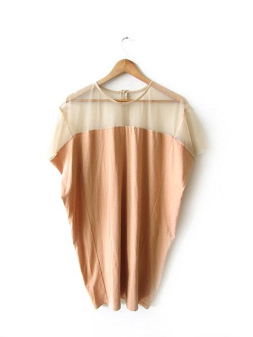 OS שמלה עם חלק שקוף מידה