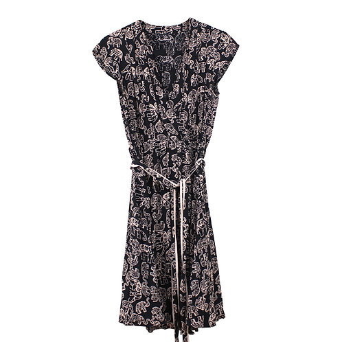 S | Maeve / Anthropologie שמלה אפריקאית