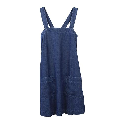 S | LEON & HARPER שמלת ג׳ינס כיסים