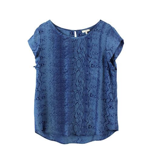 L | JOIE חולצת משי מנוחשת