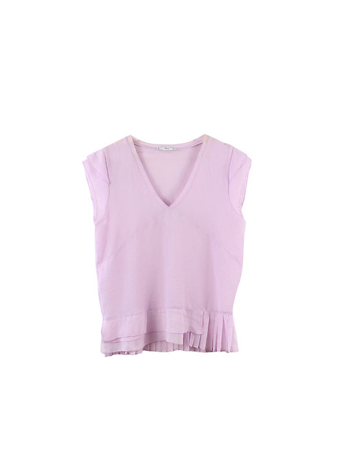 M | MANGO חולצת שיפון לבנדר