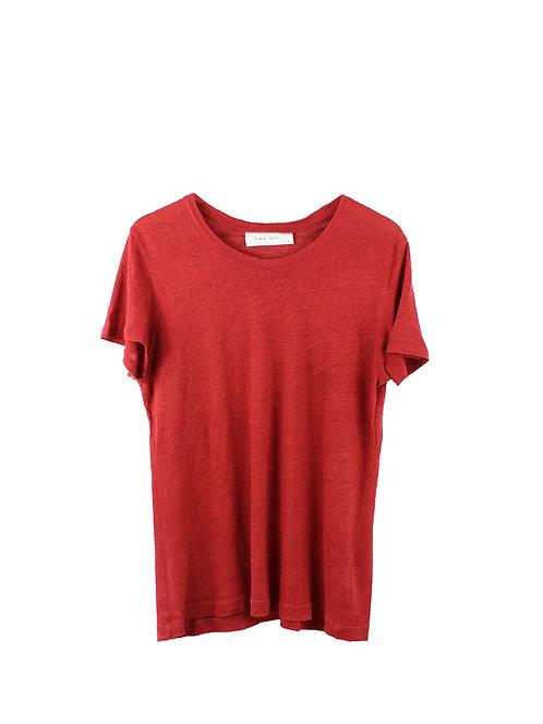 M | IRO חולצת פשתן בורדו