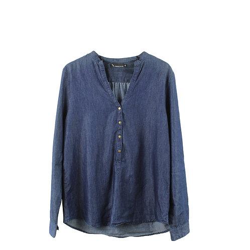 L | חולצת ג׳ינס כפתורים