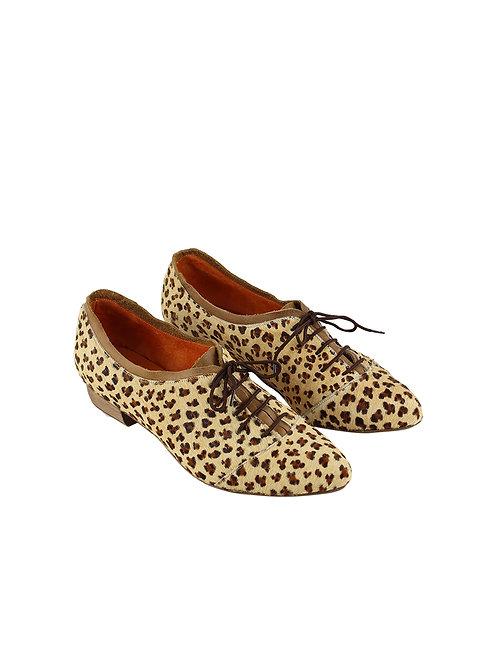 39 ELLEN RUBEN נעלי עקב מנומרות