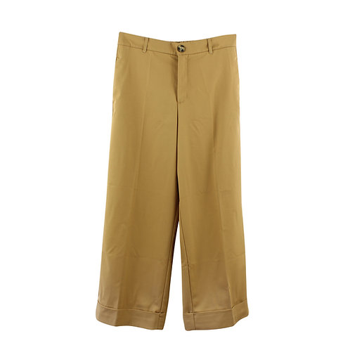 L | ZARA מכנסיים רחבים גוון חול