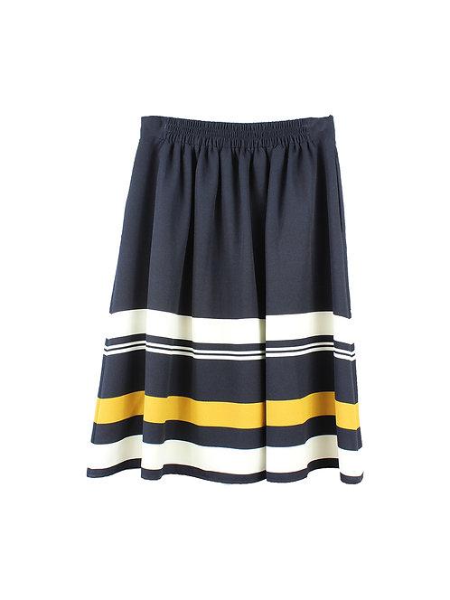 M   חצאית מידי פסים