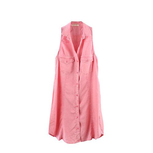 M | bella dahl שמלה מכופתר מסטיק