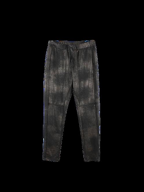 M/L | Alef Alef מכנסיים שחור מטאלי