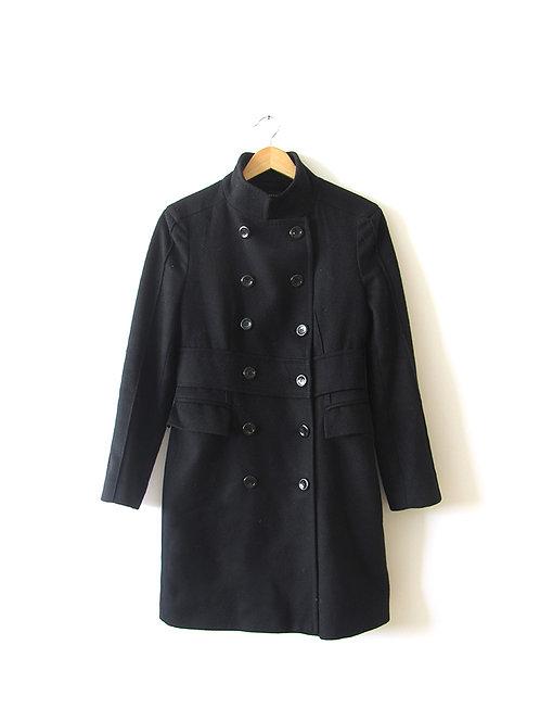S מעיל ארוך שחור מידה