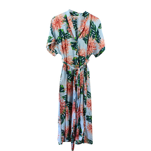 S | MANGO שמלה פרחונית