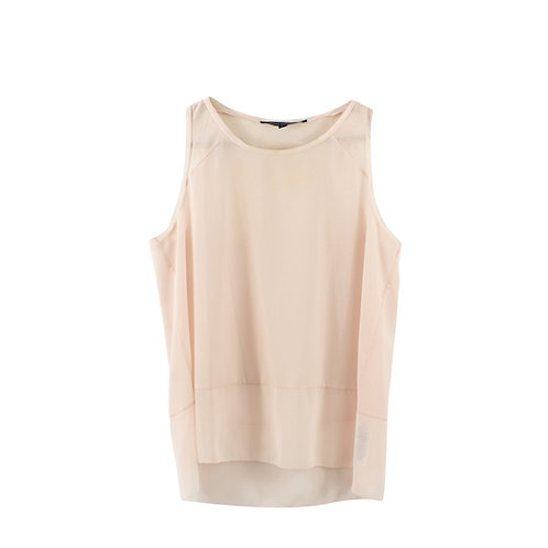 L | FRENCH CONNECTION חולצת פודרה שקופה
