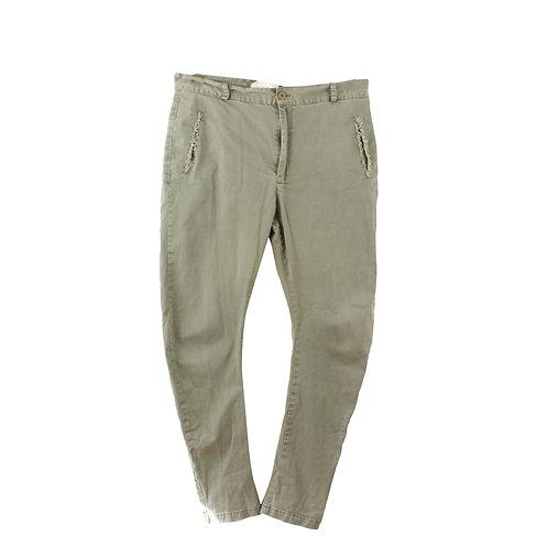XL | MAYA BASH מכנסי בויפרנד ירוק זית