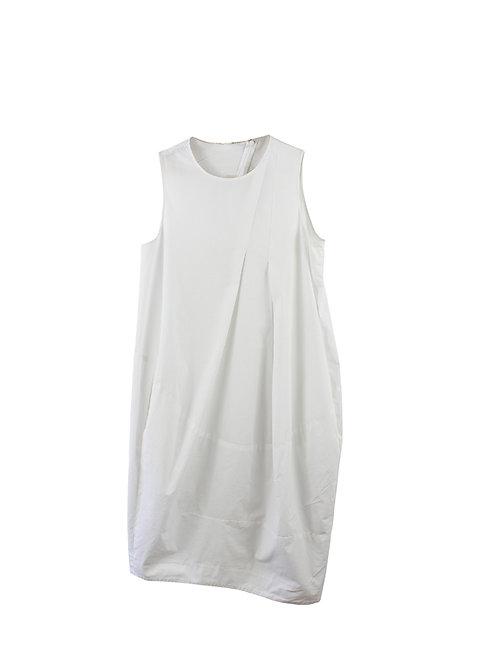 COS S    שמלה לבנה עם כיסים