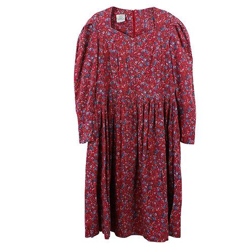 L | Laura Ashley שמלת קורדרוי וינטג׳