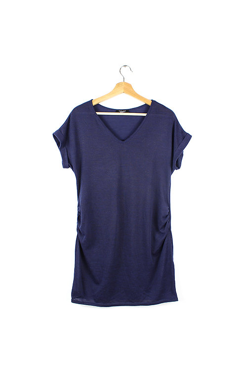 40 -חולצת טוניקה הריון כחולה