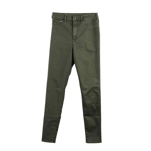 M |  ג׳ינס גזרה גבוהה ירוק זית