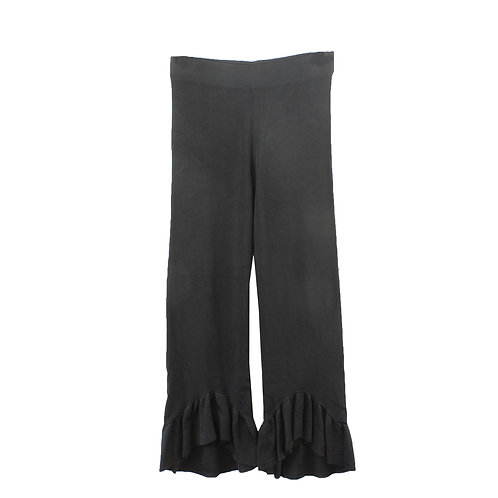 S   ZARA מכנסי בד פפלום