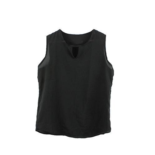M | חולצת שיפון ללא שרוולים