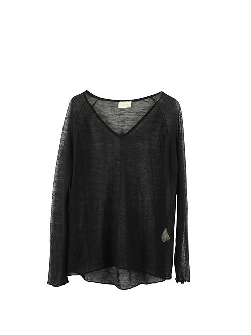 L | American Vintage חולצת סריג דקה