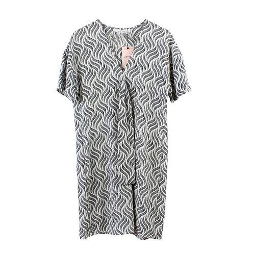 M |  yanga שמלת עופרי לבן ושחור