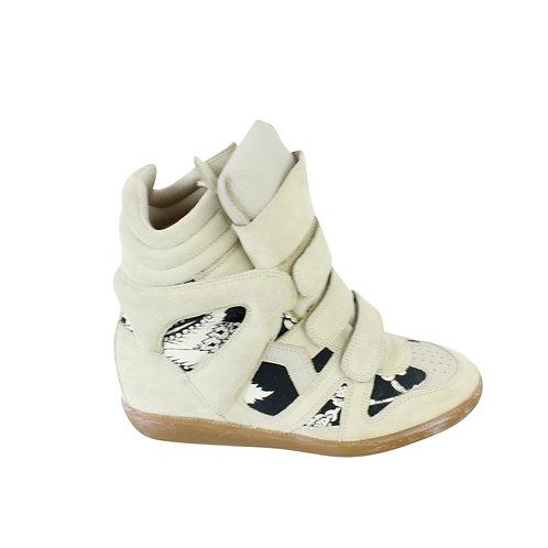 38 | ISABEL MARANT Bekett Hawaiian Wedge Sneakers